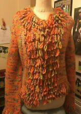 Ladies Funky Cashmere Cardigan HippiChic Size M N Peal Cashmere