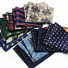 10 pcs mens handkerchief lot Pocket Square Paisley Polka Plaids Hanky 73 colors