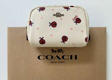 NWT COACH Ladybug Mini Boxy Cosmetic Case Travel Makeup Pouch 2492 RP $78
