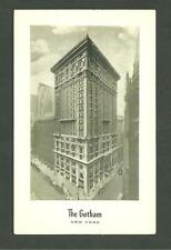 Pre 1930 Unused Postcard The Gotham Hotel New York Richtone By Steelograph Co.