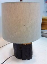 Frontgate Grandinroad Tree Trunk Base Table Lamp Light Fixture Natural Shade
