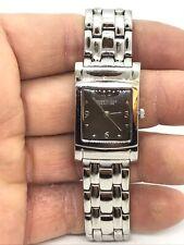 Kenneth Cole KC4465 Ladies Rectangle Stainless Steel Quartz Wrist Watch New Batt