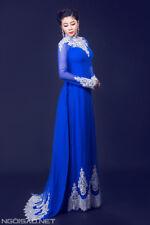 Ao dai cuoi, ao dai co dau, Vietnamese Tradtional Long wedding Dress W pants