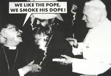 CANNABIS MARIHUANA MARIJUANA POSTKARTE POSTCARD # 51 WE LIKE THE POPE WE SMOKE