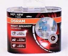 OSRAM Night Breaker Unlimited H7, Halogen-Scheinwerferlampe, Duo Box (2 Lampen)