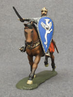 Tin Metal Toy Cavalry Horseback Knight Crusader 1/32 Hand Painted Soldiers 54mm
