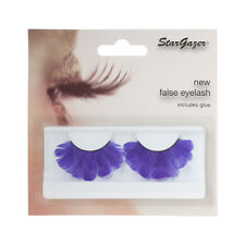 Stargazer Reusable False Eyelashes Purple Feathers #47