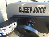 JEEP JUICE  OR GAS HOLE X GAS CAN DECAL STICKER Vinyl Accessory