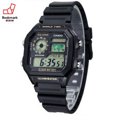 NEW CASIO STANDARD AE-1200WH-1B Men's Watch DIGITAL / LED light Sports Stopwatch