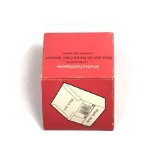 Vintage Card Dispenser w/ Box Black Jack Poker 21 Gin Rummy Card Dealer Shoe Red