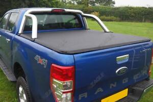 Soft Tonneau Cover - For Ford Ranger T6 - Fits with OE Roll Bar NO DRILL 2012+