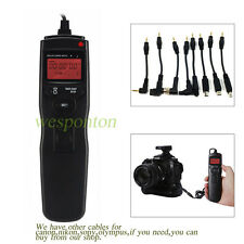 LCD Timer Shutter Release Remote Control f Sony A55 A77 A33 A580 A900 A700 A200