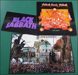 BLACK SABBATH, Set of 3 Glossy Vinyl Stickers, Sabbath Bloody Sabbath, Ozzy