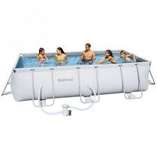 piscina fuori terra giardino 488x274xh122 struttura acciaio + telo pompa scala