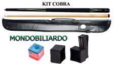 KIT STECCA DA BILIARDO COBRA 202 - CALCIO + PUNTALE - POOL 8-15 - PUNTA 13mm