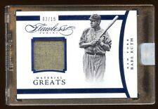 2015 FLAWLESS BABE RUTH #D 03/15  1/1  GAME WORN JERSEY MINT AMAZING YANKEES HOF