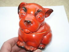 C1920S VINTAGE BONZO THE DOG PERFUMED BATH CRYSTALS CHINA CONTAINER