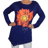 Desigual TS TERESA REP Navy Blue Shirt Top Blouse Sweater Size XS S M L XL