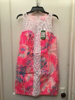 LILLY PULITZER TANA MULICOLOR COTTON SHIFT DRESS NWT SIZE 10 228.00