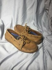 Sperry Men's A/O 2- Eye Topsider Boat Shoes 10 M Brown Leather