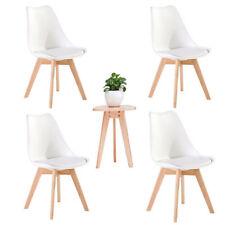 4er Esszimmerstühle mit Massivholz Buche Bein, Retro Design Gepolsterter Stuhle