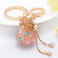 HB- Opal Money Purse Keychain Charm Pendant Handbag Bag Keychain Key Ring New Tr