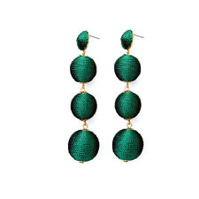 Top Quality Dome Filigree Thread Ball Drop Earrings Women's Handmade Crafts Gold