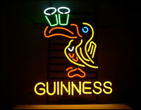 "17""x14""Guinness Beer Toucan Neon Light Sign Beer Bar Pub Party Wall Decor Art"