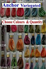 Anchor Variegated Cross Stitch Cotton Crochet Embroidery Thread Floss Skiens