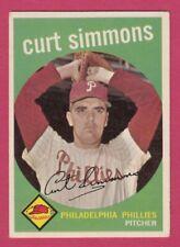 1959 Topps # 382 Curt Simmons -- Philadelphia Phillies -- Box 722-690