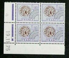 TIMBRES FRANCE : 1976 YVERT PREOBLITéRéS N° 144** NEUF COIN DATé 19 11 75 - TBE