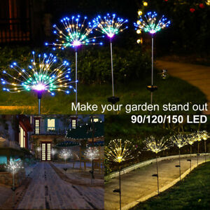 150/90 LED Firework Starburst Solar Light for Frontyard Patio Lawn Christmas