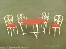 Mobilier chaises pour maison de poupées miniature Jardin | eBay