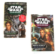 STAR WARS THE NEW JEDI ORDER Edge of Victory Novel Book set lot of 2