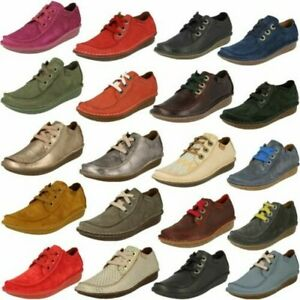 Ladies Clarks Funny Dream Comfortable Lace Up Flats
