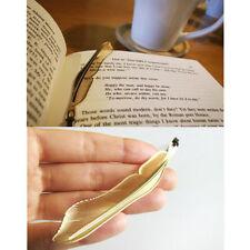 4-tlg. Neuheit Feder Bookmark Feder Lesezeichen Anhänger Gold Legierung