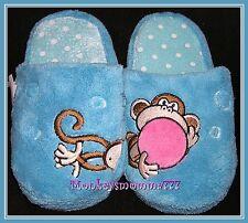 Original Bobby Jack Monkey Slippers Girl's size Small 11/12 NWT!