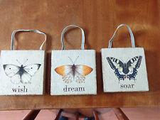 Lot 3 Marjolein Bastin Nature's Journey Butterfly Plaque Wish Dream Soar New