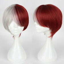 My Hero Academia Shoto Todoroki Red White Mixed Short Straight Cosplay Wig