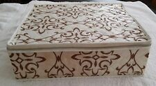 Vintage Quilted Storage Box for Drinking Glasses 14 X 12 X 4 Long Beach Ca