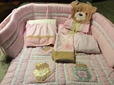 Kidsline Bear and Gingham Crib Bedding Set