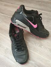 Ladies/Girls Nike Air Max 90 Leather Trainers  Black UK4