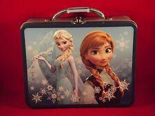 Disney Frozen Movie - Anna and Elsa ~ Tin Lunch Box by Tin Box Co. ~ Blue Border