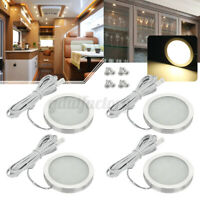 4x Interior LED Spot Light Reading Lamp Camper Van Caravan Motorhome Boat 12V