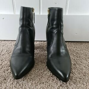 Black Leather SEED ANKLE (above) BOOTS  SIZE 39