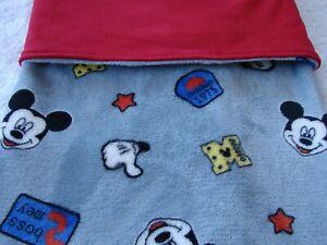 Mickey Mouse Grey Reversible Red Minky/Fleece BabyHandmade Blanket