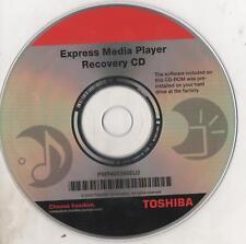 TOSHIBA PMR400388EU2 - EXPRESS MEDIA PLAYER RECOVERY CD - CD-ROM RIPRISTINO