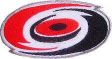New NHL Carolina Hurricanes Logo embroidered iron on patch. 3.75 x 2 inch (IB21)