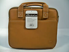 "Tan Leather Portfolio Case Sleeve Fits Apple MacBook 12"" & MacBook Air 11"""