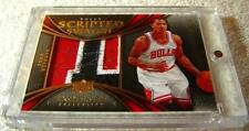 DERRICK ROSE 2008 EXQUISITE SCRIPTED SWATCH LOGO PATCH AUTO ROOKIE SERIAL #23/25